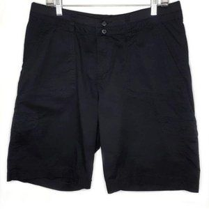 Lee Relaxed Fit Black Casual Bermuda Shorts